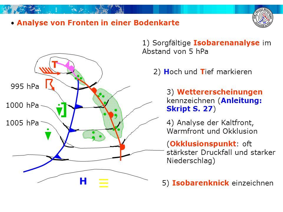 ] ; T H Analyse von Fronten in einer Bodenkarte